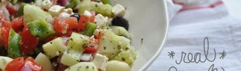 Real Greek Salad by Salt and Twine